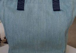 Materials: cotton, recycled denim, velvet.