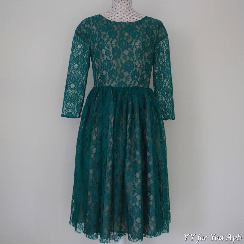 dc004c15 Women's Green Guipure Lace Midi Dress - YY for You