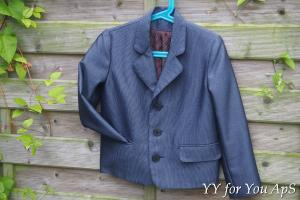 Boy's Blue Striped Blazer