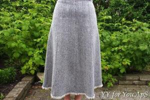 Woman's Gray Striped Skirt