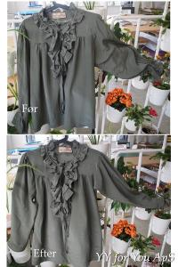 Woman's Green Silk Blouse